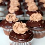 Double Chocolate Nutella Cupcakes