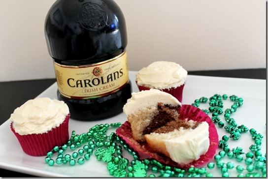 Marbled Irish Cream Cupcakes