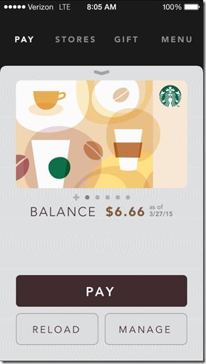 starbucks card balance