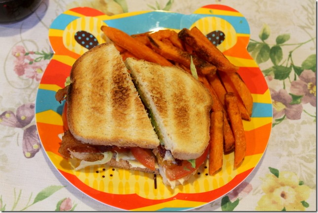 BLAT's with sweet potato fries