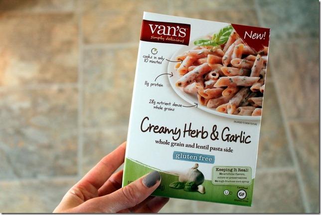 Van's creamy herb pasta