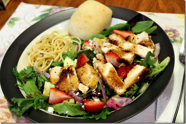 Chicken, Strawberry, & Feta Salads