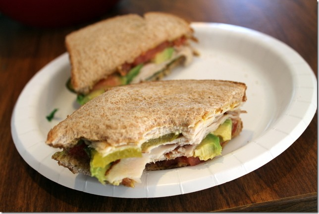 turkey veggie sandwich