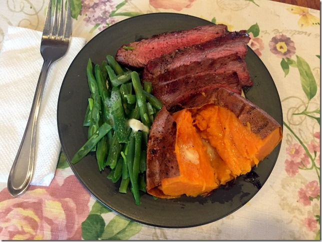 flank steak potato and veggie