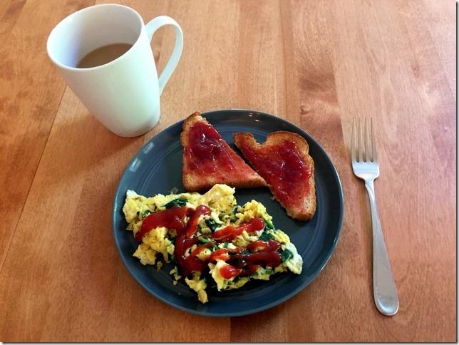eggs and toast breakfast