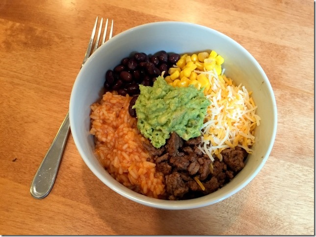fiesta bowls with mexican rice