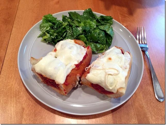 Italian Meatball Sandwiches with Caesar-Style Romaine Salad
