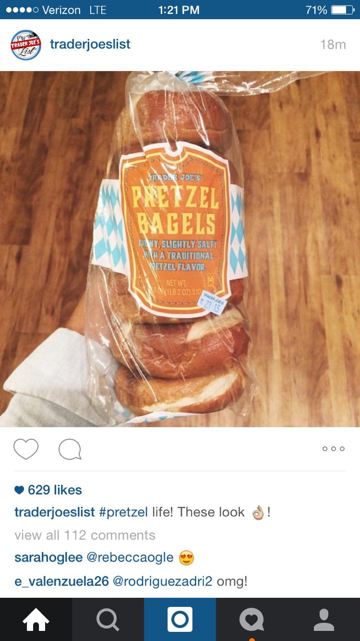 trader joes pretzel bagels