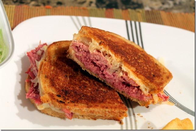 Homemade Reuben sandwiches