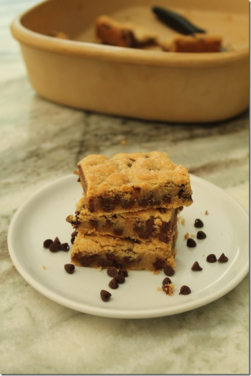 Best Ever Chocolate Chip Cookie Bars