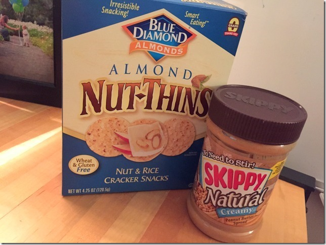 nut thins and peanut butter