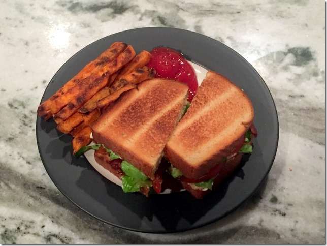 BLAT with sweet potato fries