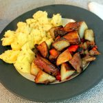 Perfect Scrambled Eggs and Breakfast Potatoes with Salted