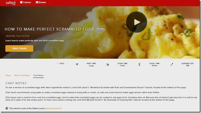 scrambled eggs notes
