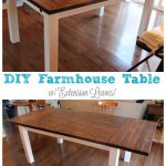 DIY Farmhouse Table with Extension Leaves (with Plans!)
