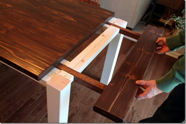 DIY Farmhouse Table With Extension Leaves Plans