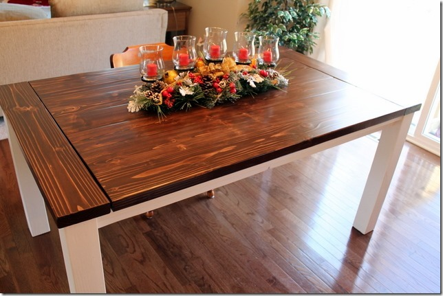 Exceptionnel DIY Farmhouse Table With Extension Leaves