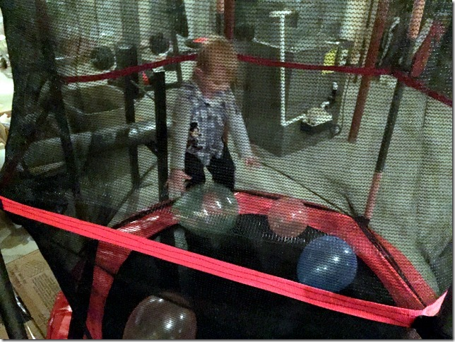 trampoline with balloons