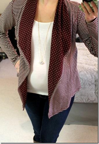 Margerie Stripe & Dot Open Cardigan Stitch Fix