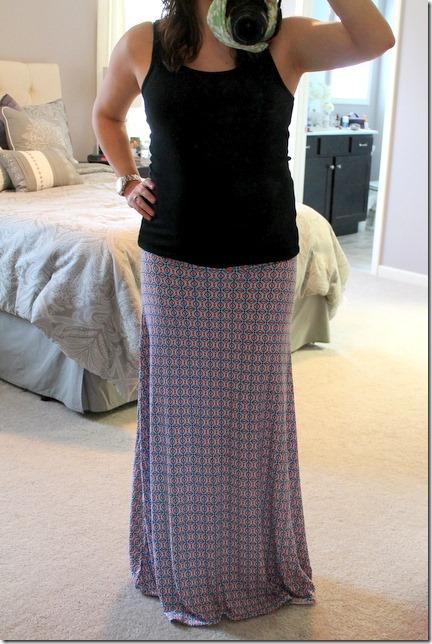 MARKET & SPRUCE Char Geo Print Maxi Skirt