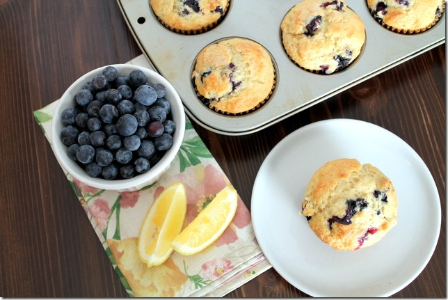 Triple Lemon Blueberry Muffins