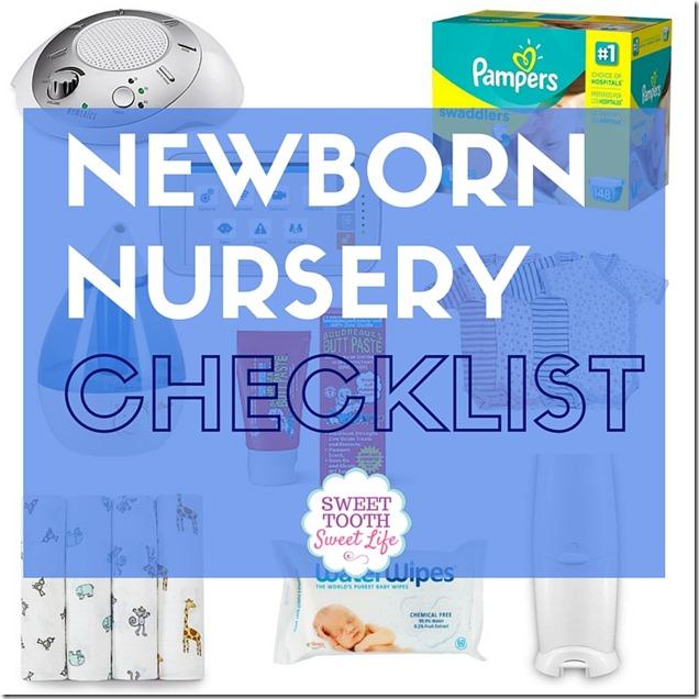 Newborn Nursery Checklist