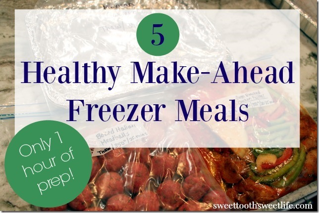 5 healthy make-ahead freezer meals