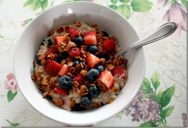 mixed berry french toast oatmeal