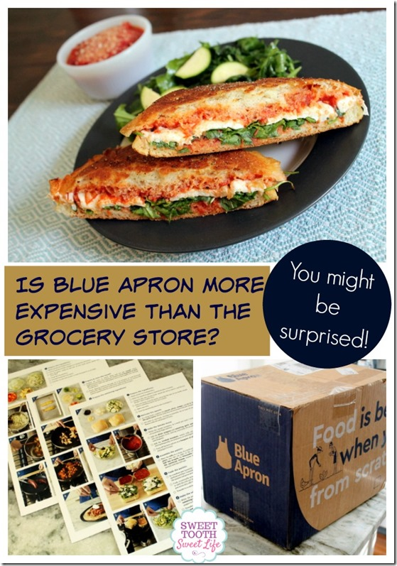 cost of Blue Apron compared to the grocery store