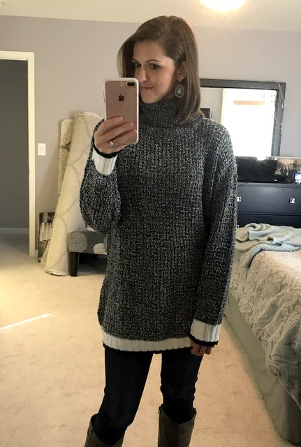 Last up for this particular haul is this Knit Turtleneck Sweater in…Dark  Grey. If you check out the sweater on the website 7c0b6d3ec