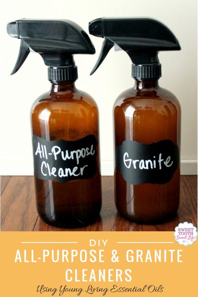 Diy All Purpose Cleaner Granite Using Essential Oils